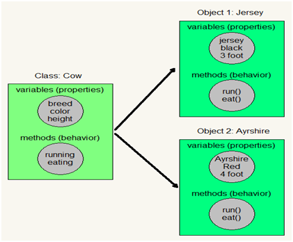 Definition of class, Definition of object, Class Vs Object, Object Vs Class, Class and object with real time example, Class and object with diagram.